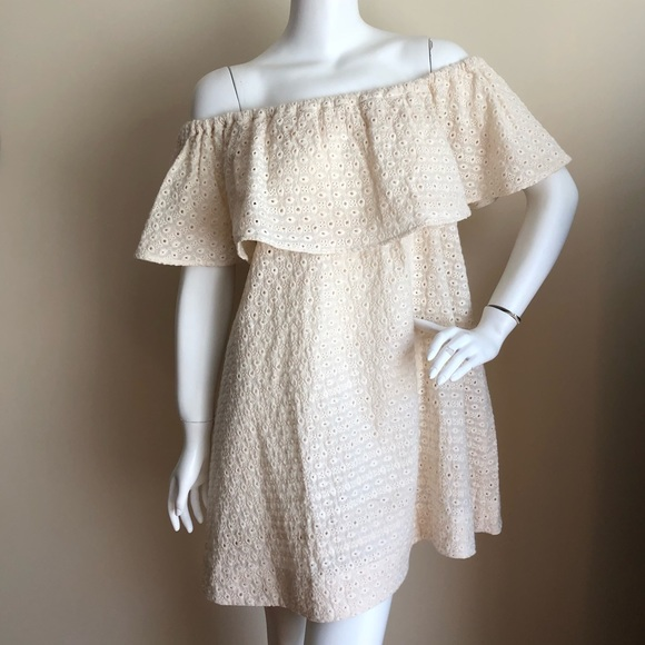 Anine Bing Dresses & Skirts - NWT Anine Bing off-the-shoulder eyelet mini dress